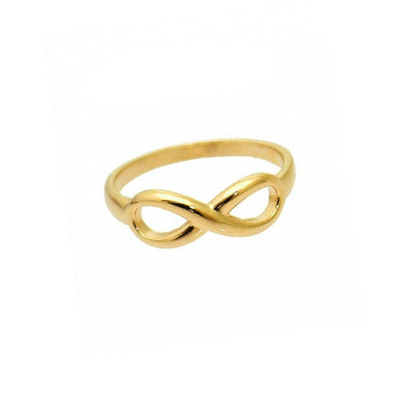 Gold-Dipped Infinity Ring