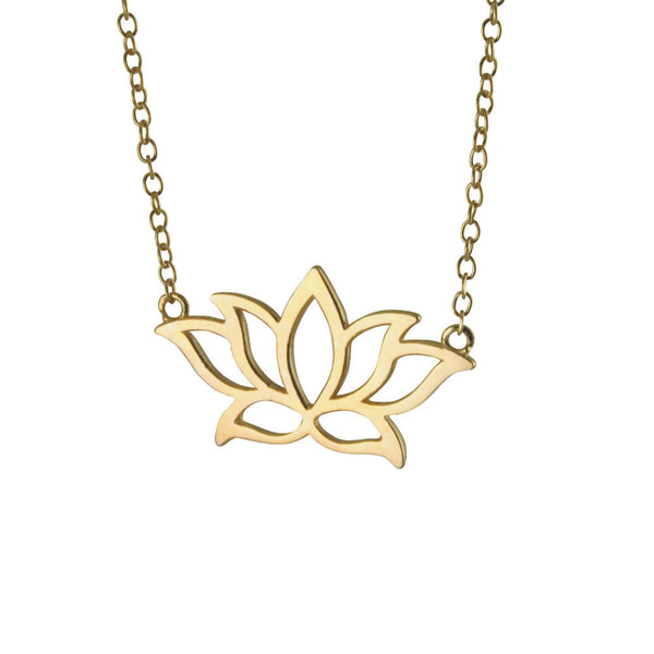Gold-Dipped Lotus Necklace