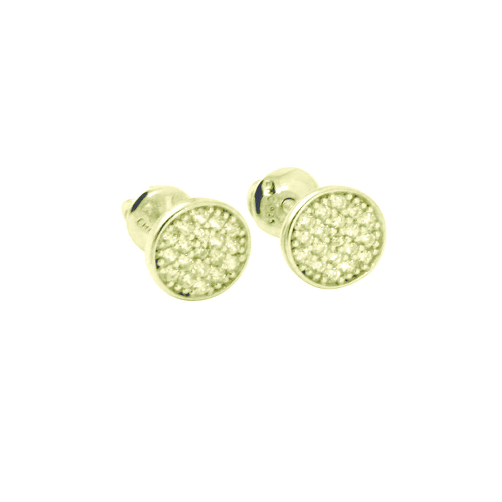 """Mini Twinkle"" Sterling Pave Cluster Screw-Back Stud Earrings"
