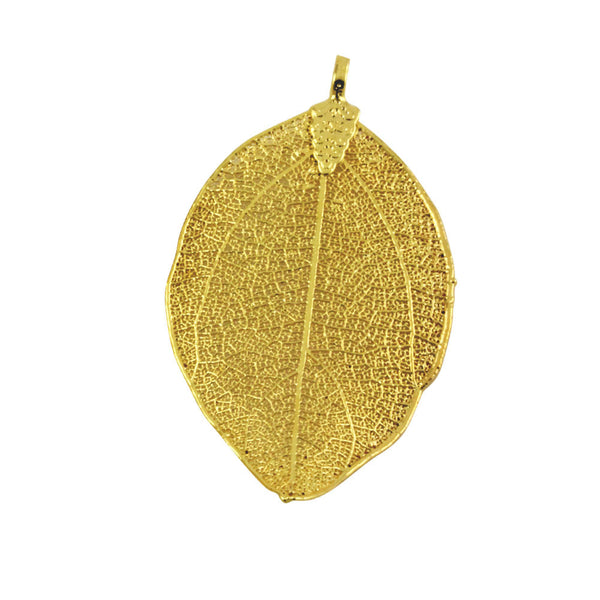 """Fly as a Leaf"" Gold-Plated Organic Leaf Pendant"
