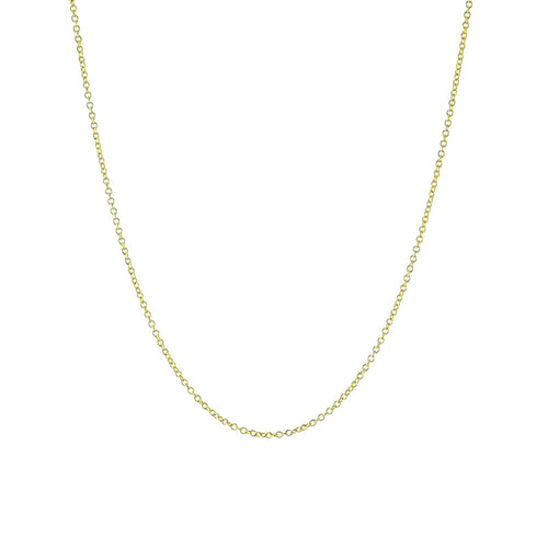 Classic Gold-Dipped Simple Link Chain Necklace