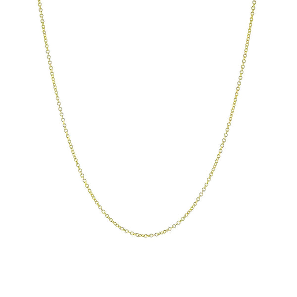 Classic Gold-Dipped Rolo Chain Necklace