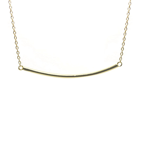 Gold-Dipped Plain Bar Necklace