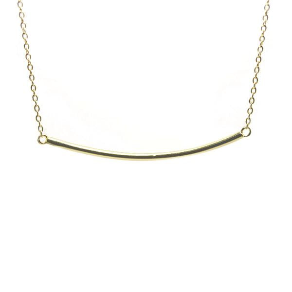 Plain Small Bar Necklace