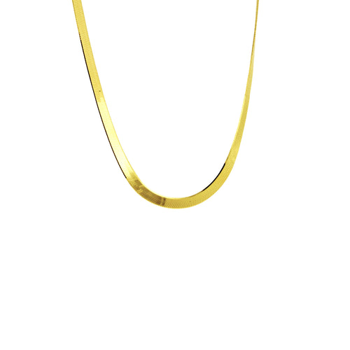 Gold-Dipped Modern Herringbone Necklace