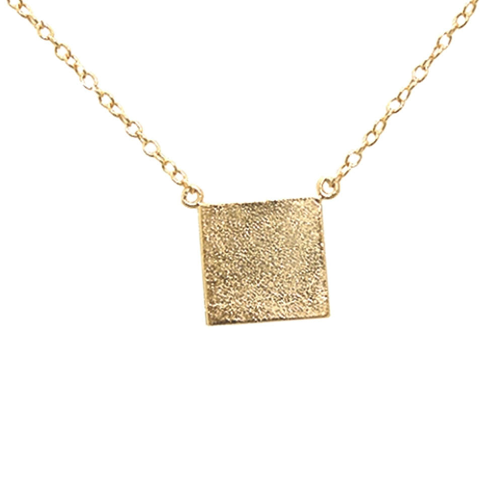 Rose gold plated 925 silver plain square pendant necklace 17 inch rose gold plated 925 silver plain square pendant necklace 17 inch apop apoptosisnyc mozeypictures Image collections