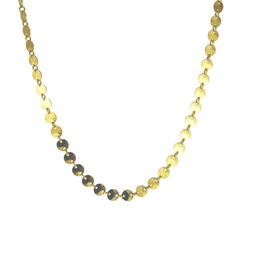 Gold-Dipped Sunflower Collar Necklace