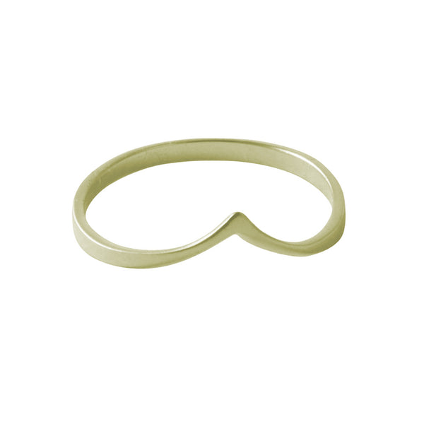 """Peaky"" Gold-Dipped Thin Band Ring"