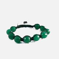 Green Stone Beaded Friendship Macrame Bracelet