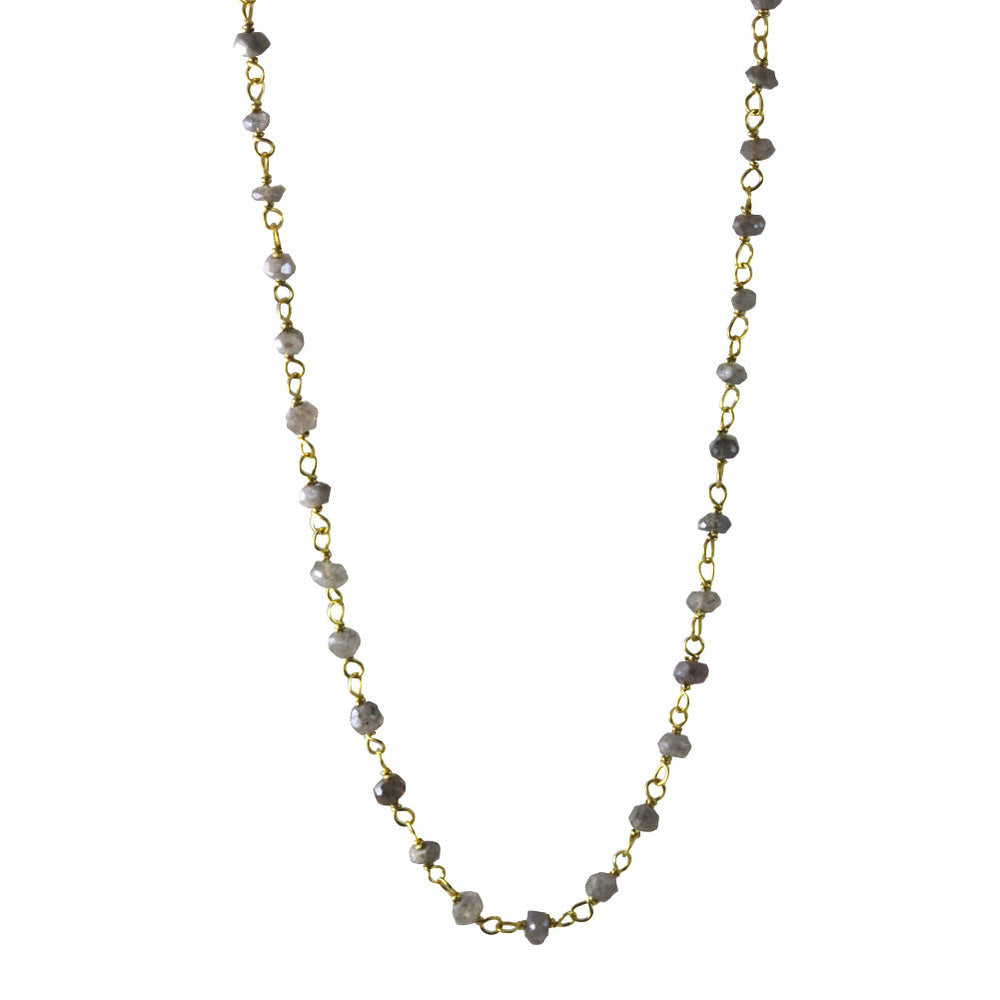 Mini Stone Labradorite Beaded Necklace