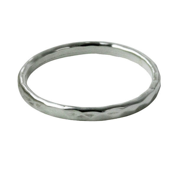 """Disko"" Sterling Silver Thin Band Ring"