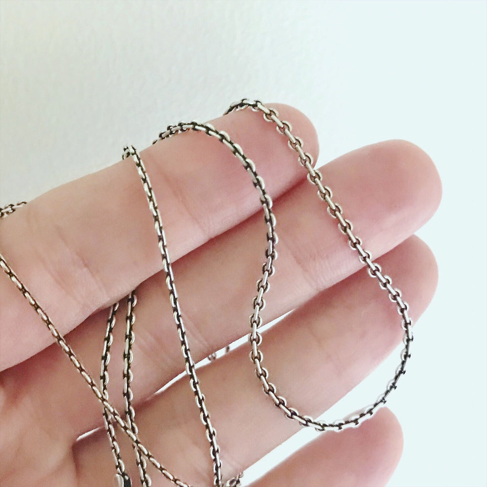 """Embroidery"" Sterling Silver Layering Necklace"