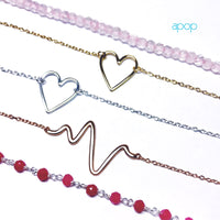 "Sterling Silver ""Heartbeat"" Necklace"