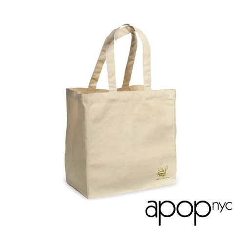Eco Friendly 100% Cotton Large Canvas Tote Bag