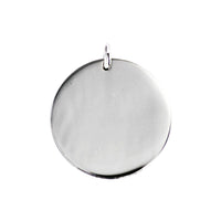 Mixed Metals Large Round Medallion Pendant Necklace