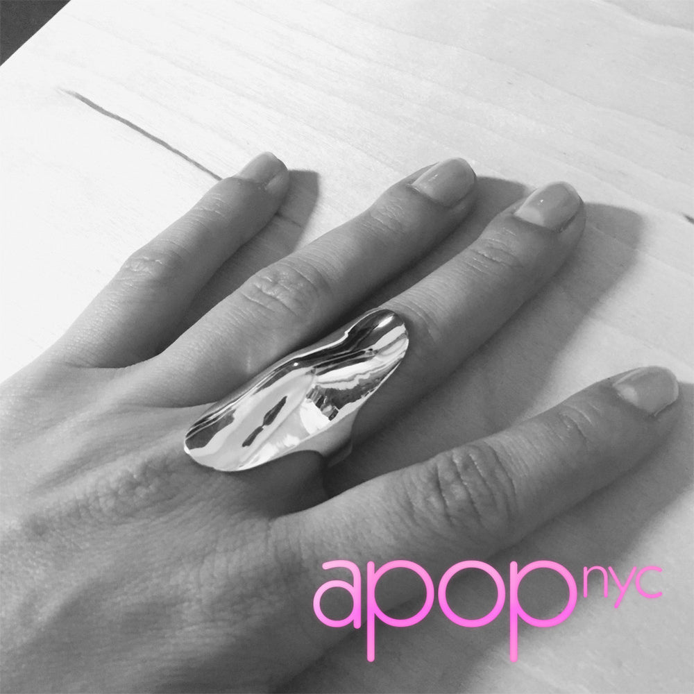 Sterling Silver Long Knuckle Ring