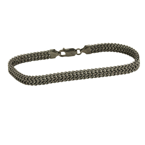 Blackened Silver Rail Bracelet for Him
