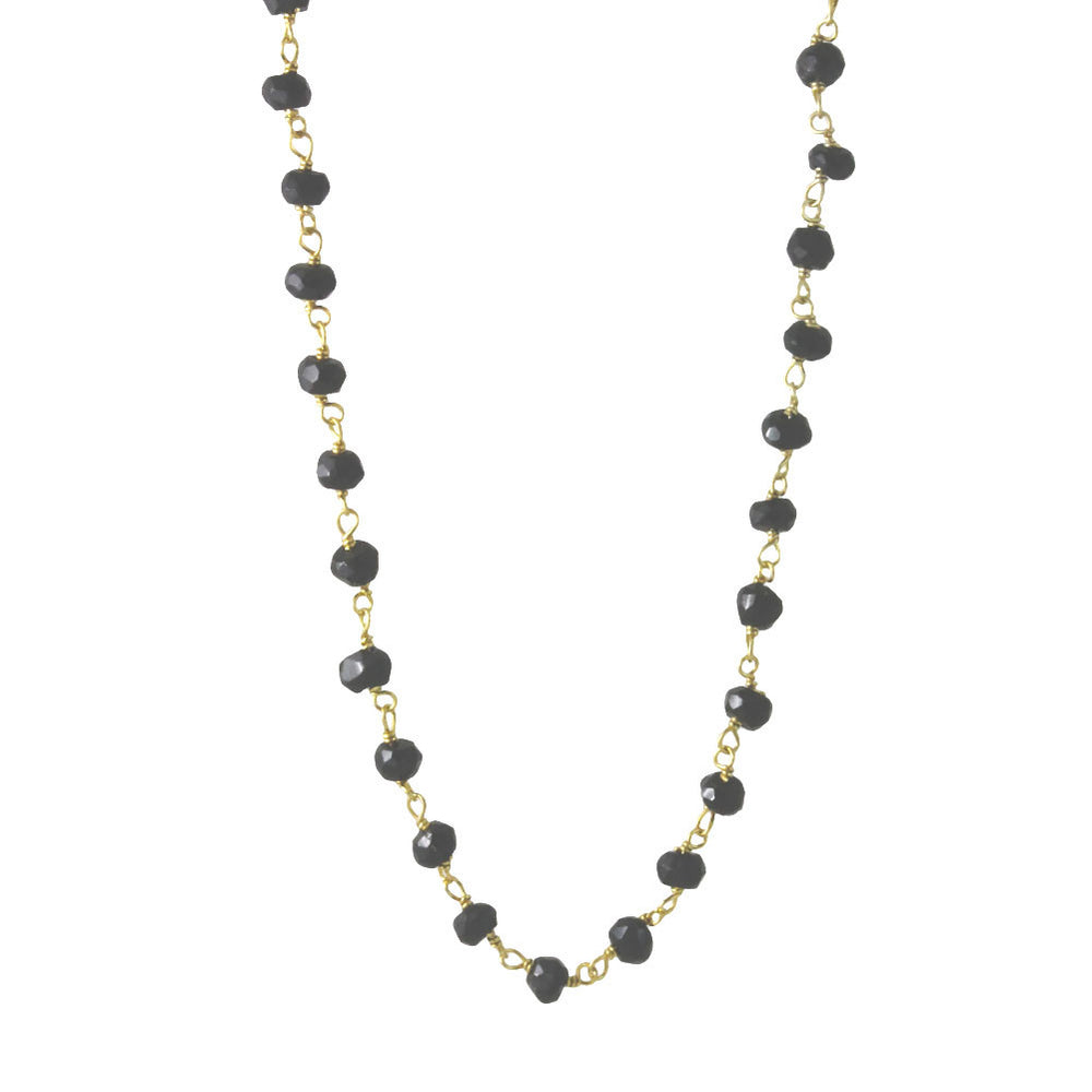 Mini Black Onyx Station Necklace