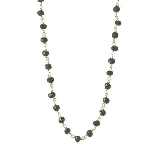 Mini Black Onyx Station Layering Necklace