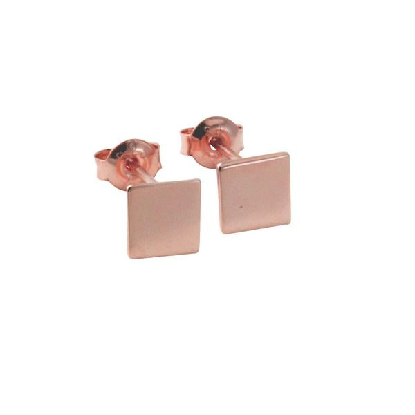 """Tic Tac"" Sterling Silver Mini Square Stud Earrings"