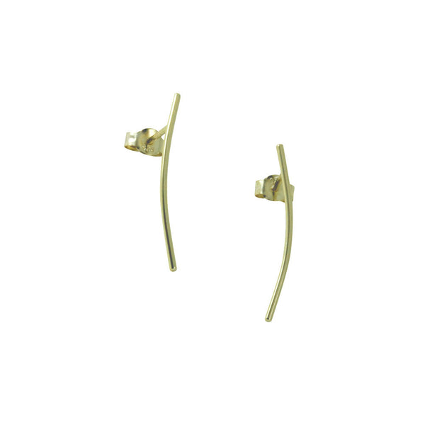 """Twigs"" Gold-Dipped Bar Stick Earrings or Pin Climber"
