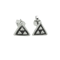Sterling Silver Mini Triangle Stud Earrings