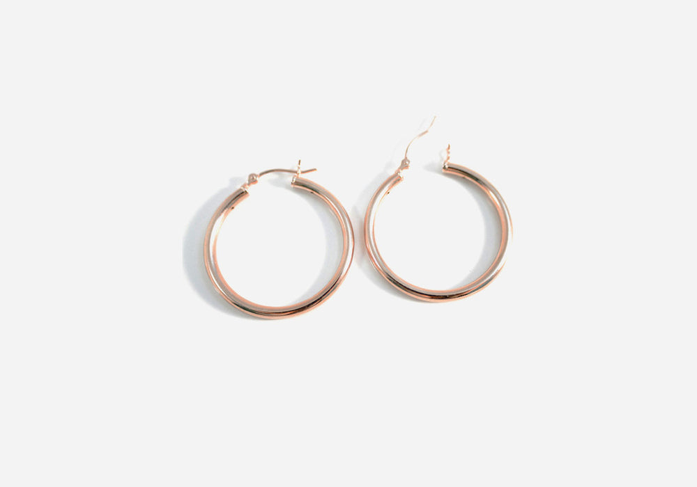 """Rosy Rounds"" Hoop Earrings"