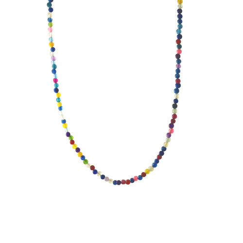 MultiColor Rainbow Stone Beaded Necklace