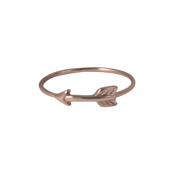 Rose Gold-Dipped Arrow Band Ring