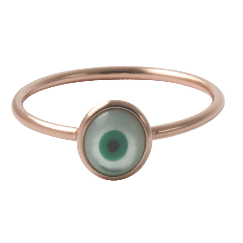 """Peepr"" Rosy Blue Eye Ring"