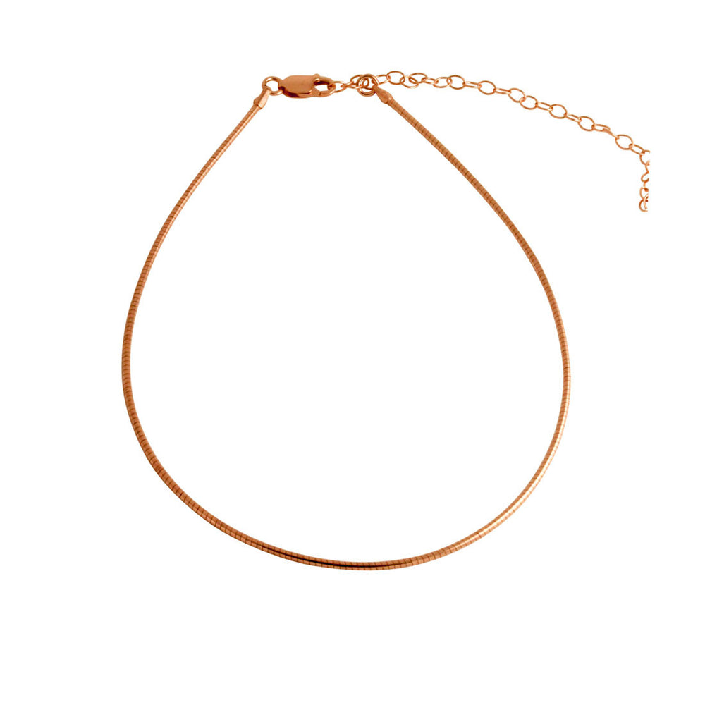 """Omega"" Cord Choker Necklace"