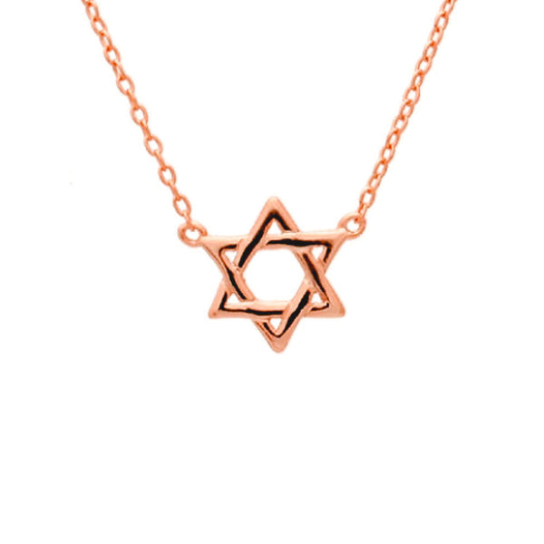 Rosy Star of David Necklace