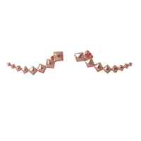 """Kite Studs"" Rose Gold-Dipped Geometric Ear Pin Climber Studs"