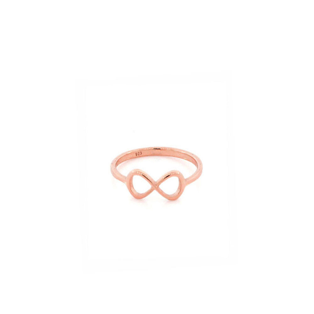 Sterling Silver Thin Infinity Ring & Midi