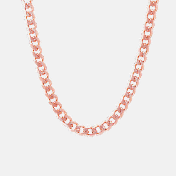 """Curb Couture"" Rosy Curb Chain Necklace 22 inch"