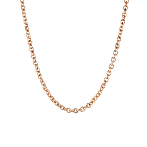 Rosy Round Link Simple Chain Necklace