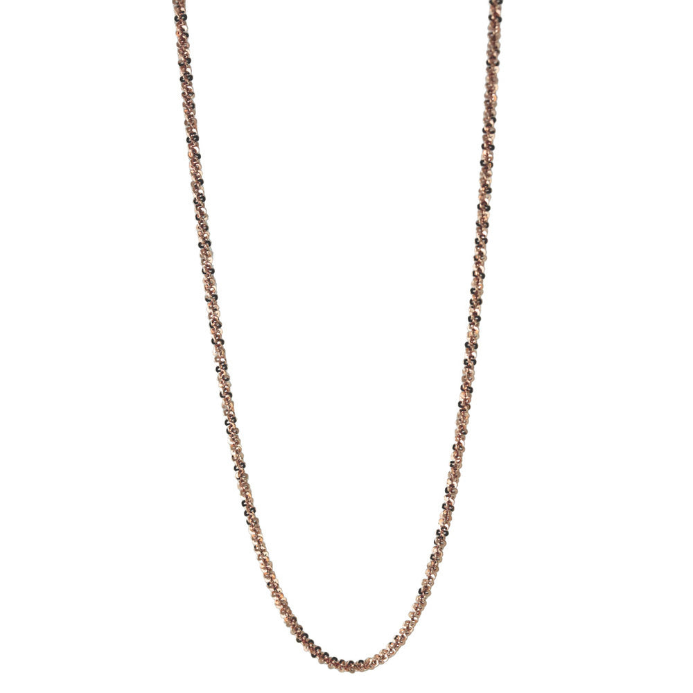 """Sequins"" Rosy Sparkle Chain Necklace"