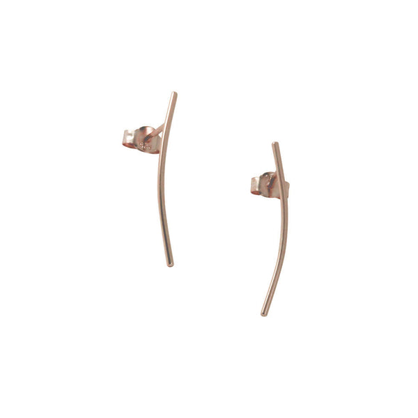 """Twigs"" Rosy Bar Stick Earrings or Pin Climber"