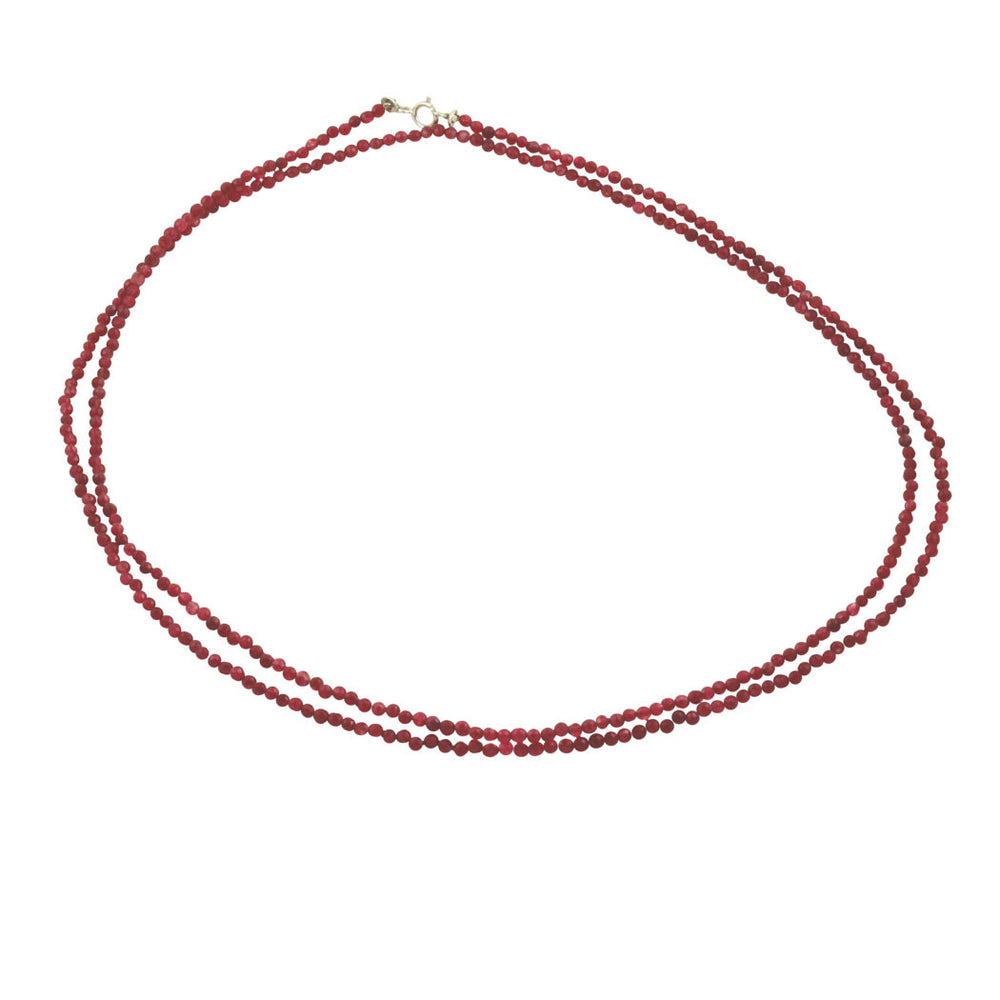 Ruby Bead Choker Necklace