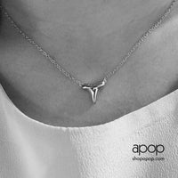 Sterling Silver Mini Shark Tooth Necklace