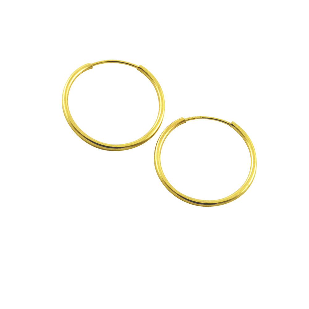 14k Gold Whisper Hoop Earrings