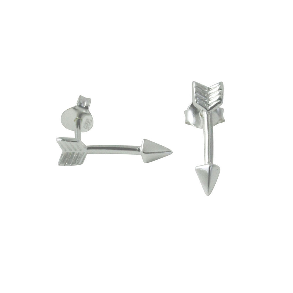 Sterling Mini Chevron Arrow Stud Earrings