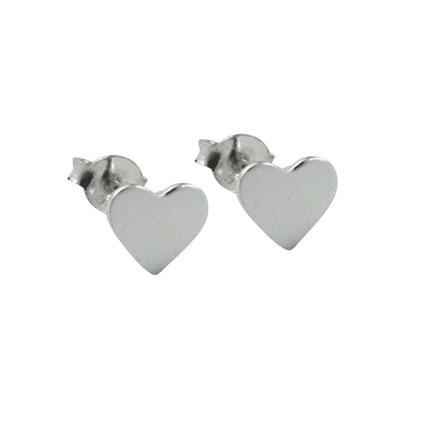 """Little Love"" Sterling Silver Mini Heart Stud Earrings"