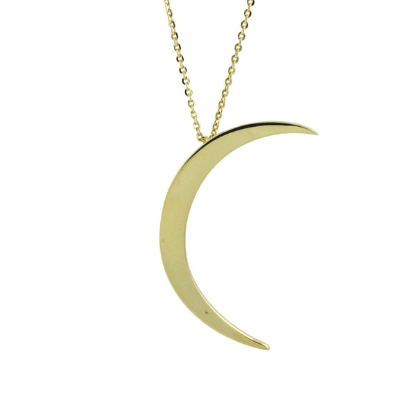 "Gold-Dipped ""Moody Lunette"" Moon Necklace"