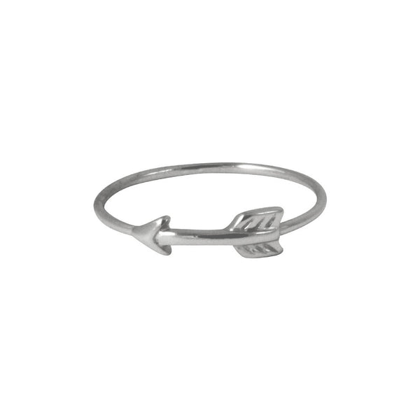 Sterling Silver Arrow Band & Midi Ring