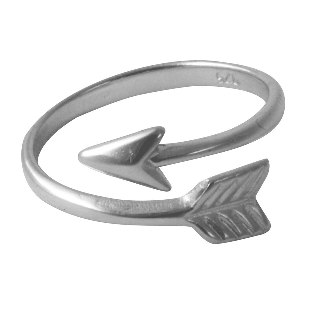 silver chevron arrow ring