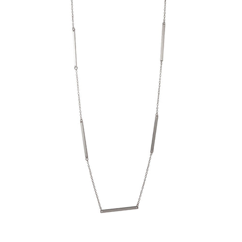 Sterling Silver Bar Link Layering Necklace