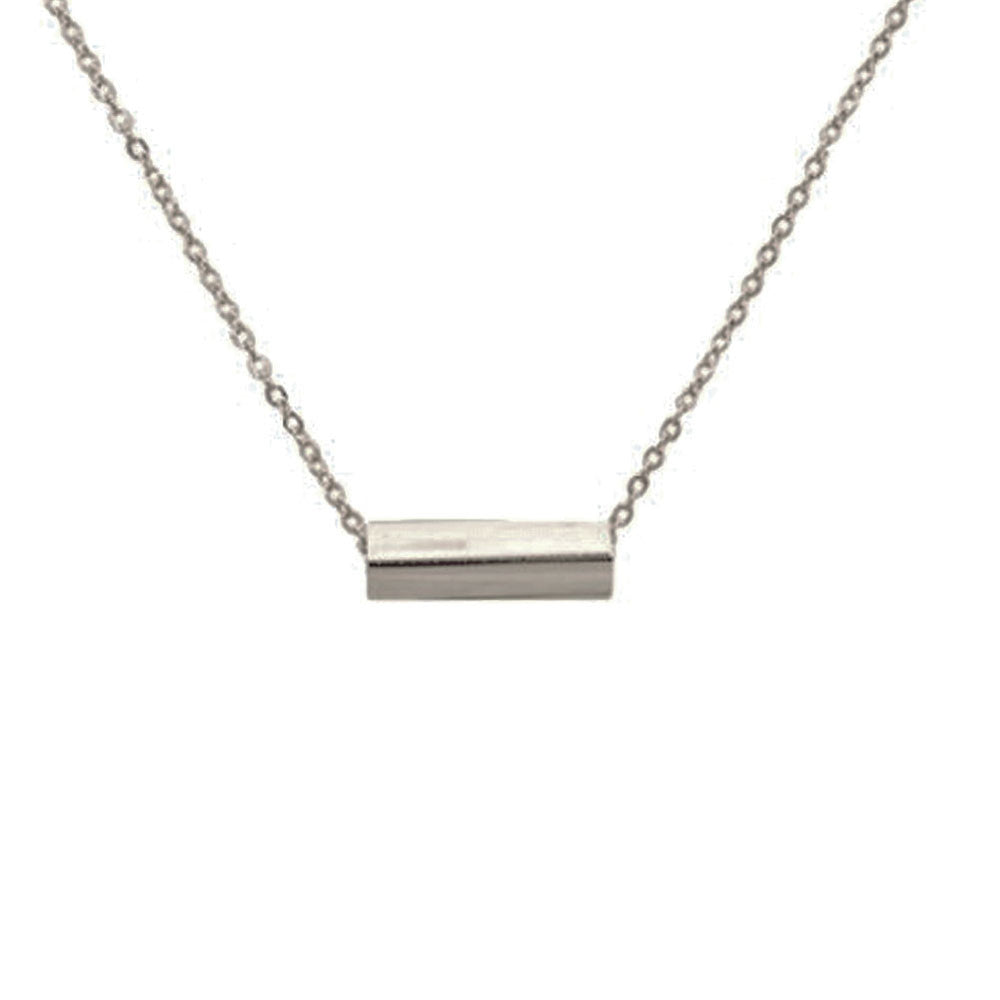 """Prism"" Rectangle Bar Pendant Necklace"