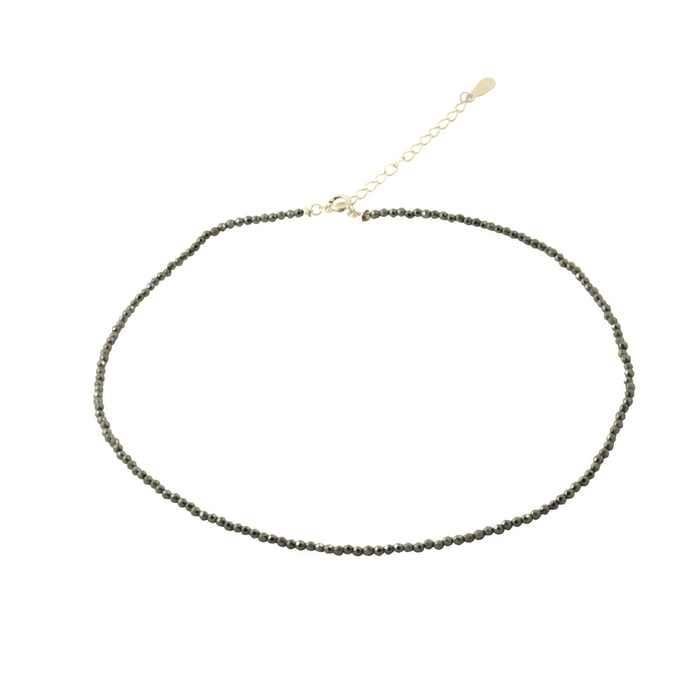 Grey Crystal Bead Collar Necklace