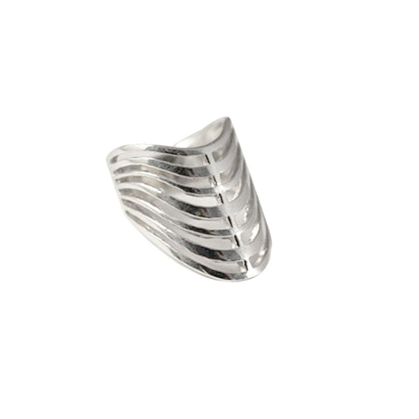 Sterling Silver Armor Cage Ring